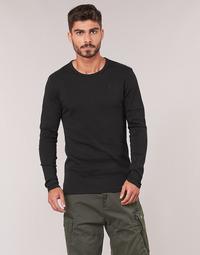 Abbigliamento Uomo T-shirts a maniche lunghe G-Star Raw BASE TEE Nero