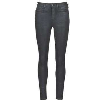 Abbigliamento Donna Jeans skynny G-Star Raw ASHTIX ZIP HIGH SUPER SKINNY ANKLE WMN Nero