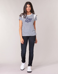 Abbigliamento Donna Jeans dritti G-Star Raw MIDGE MID STRAIGHT WMN Blu / Nero