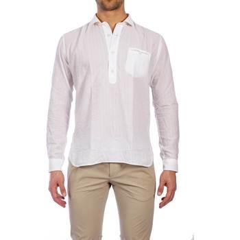 Abbigliamento Uomo Camicie maniche lunghe Tintoria Mattei TXR NRV AA1 BIA Camicia Uomo Uomo Bianco Bianco