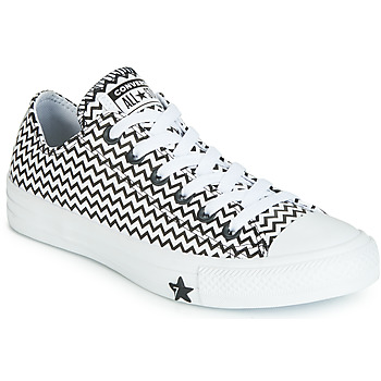 Scarpe Donna Sneakers basse Converse CHUCK TAYLOR ALL STAR VLTG LEATHER OX Bianco / Nero