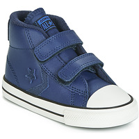 Scarpe Unisex bambino Sneakers alte Converse STAR PLAYER 2V ASTEROID LEATHER HI Blu