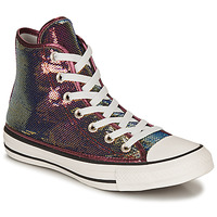 Scarpe Donna Sneakers alte Converse CHUCK TAYLOR ALL STAR MINISEQUINS HI Rosa / Argento