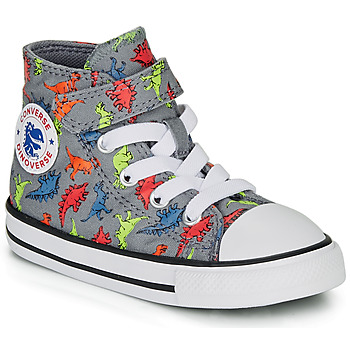 Scarpe Bambino Sneakers alte Converse CHUCK TAYLOR ALL STAR 1V DINOVERSE HI Grigio