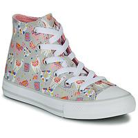 Scarpe Bambina Sneakers alte Converse CHUCK TAYLOR ALL STAR LLAMA HI Grigio / Multicolore