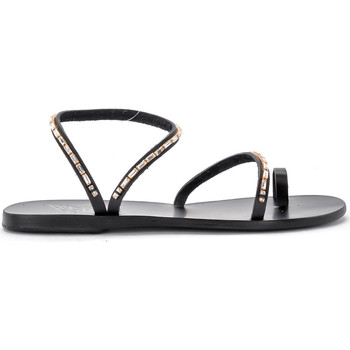 Scarpe Donna Sandali Ancient Greek Sandals Sandalo Apli Eleftheria Diamonds in pelle nera Nero