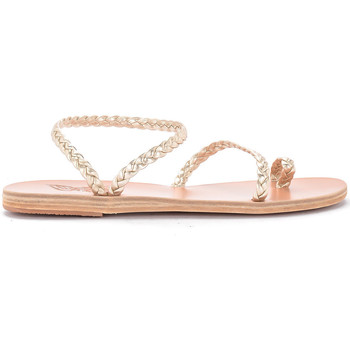 Scarpe Donna Sandali Ancient Greek Sandals Sandalo Eleftheria in pelle platino Oro