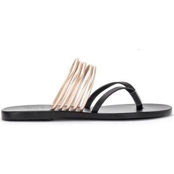 Scarpe Donna Sandali Ancient Greek Sandals Ciabattina Kilini in pelle nera e platino Nero