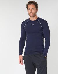 Abbigliamento Uomo T-shirts a maniche lunghe Under Armour HEATGEAR ARMOUR LS COMPRESSION Marine