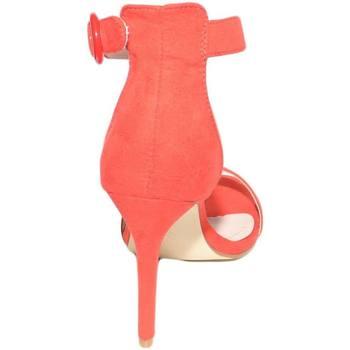 Scarpe Donna Sandali Malu Shoes Sandalo donna camoscio rosso tacco a spillo linea basic con pla ROSSO