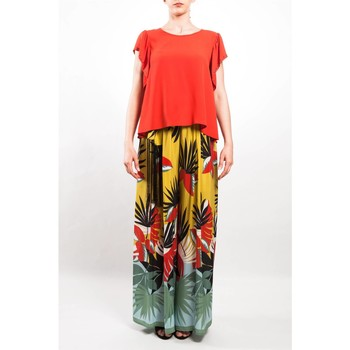 Abbigliamento Donna Pantaloni morbidi / Pantaloni alla zuava Beatrice B 17FE1810CHENAB-MULT Multicolor