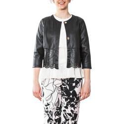 Abbigliamento Donna Giacca in cuoio / simil cuoio Liu Jo C18014E0510-22222 Giacca Ecopelle Donna Donna Nero Nero