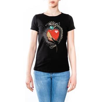 Abbigliamento Donna T-shirt maniche corte Liu Jo C18236J7954-V9284 T-shirt Donna Donna Nero Nero