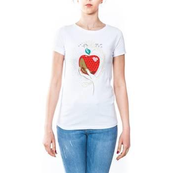 Abbigliamento Donna T-shirt maniche corte Liu Jo C18236J7954-V9285 T-shirt Donna Donna Bianco Bianco