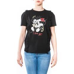 Abbigliamento Donna T-shirt maniche corte Liu Jo C18249J7954-V9290 T-shirt Donna Donna Nero Nero