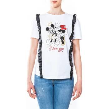 Abbigliamento Donna T-shirt maniche corte Liu Jo C18249J7954-V9291 T-shirt Donna Donna Bianco Bianco