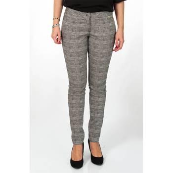 Abbigliamento Donna Pantalone Cargo Liu Jo C66253T1770-Y9826 Pantalone Donna Donna Nero-bianco Nero-bianco