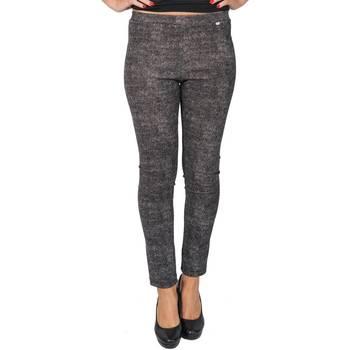 Abbigliamento Donna Pantaloni morbidi / Pantaloni alla zuava Dmyd PT08-DM-01 Pantalone Donna Donna Nero-bianco Nero-bianco