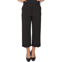 Abbigliamento Donna Pantaloni morbidi / Pantaloni alla zuava Dmyd PT09-DM-02 Pantalone Donna Donna Nero Nero
