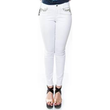 Abbigliamento Donna Jeans dritti Twin Set YS82ZQ-0001 Jeans Donna Donna Bianco Bianco