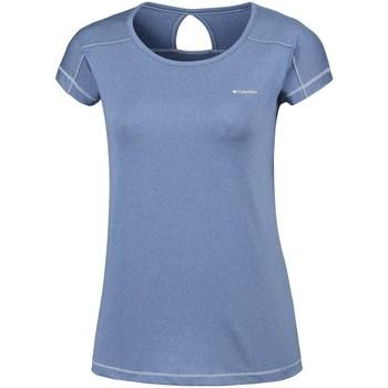 Abbigliamento Donna T-shirt maniche corte Columbia Peak TO Point Azzuro