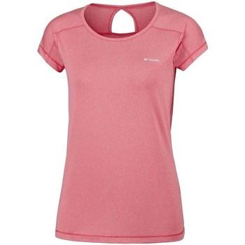 Abbigliamento Donna T-shirt maniche corte Columbia Peak TO Point Rosa