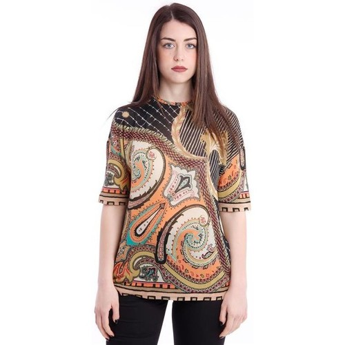 size 40 6ad33 550a5 T-SHIRT IN JERSEY STAMPA PAISLEY