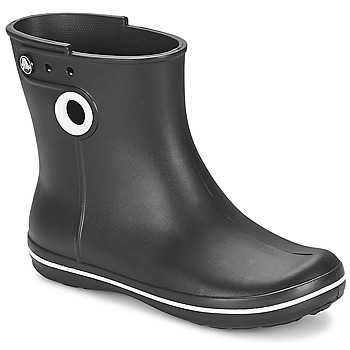 Scarpe Donna Stivali da pioggia Crocs JAUNT SHORTY BOOT W-BLACK Nero