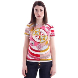 Abbigliamento Donna T-shirt & Polo Tory Burch T-SHIRT GEOMETRIC CHIC IN COTONE Pink