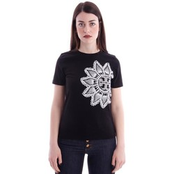 Abbigliamento Donna T-shirt & Polo Tory Burch T-SHIRT CON RICAMO OVER Black
