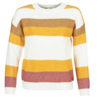 Abbigliamento Donna Maglioni Roxy TRIP FOR TWO STRIPE Bianco / Giallo