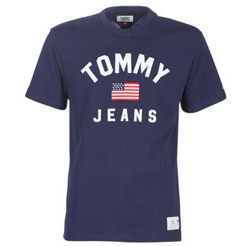 Abbigliamento Uomo T-shirt maniche corte Tommy Jeans TJM USA FLAG TEE Marine
