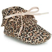 Scarpe Bambina Pantofole Citrouille et Compagnie LILIFI Camel / Leopard