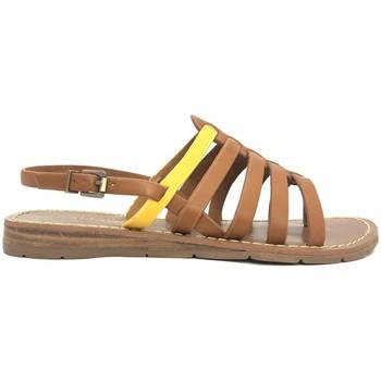 Scarpe Donna Sandali Chattawak sandales 7-SHIRLEY Camel/Jaune Marrone