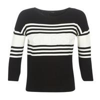 Abbigliamento Donna Maglioni Guess VIOLANTE Nero / Bianco