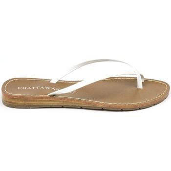 Scarpe Donna Sandali Chattawak sandales 7-RIADE Blanc Bianco