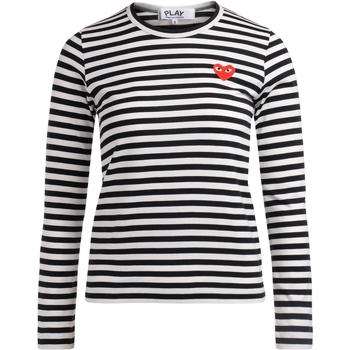 Abbigliamento Donna T-shirts a maniche lunghe Comme Des Garcons T-shirt a righe bianche e nere Multicolore
