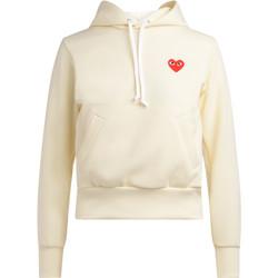Abbigliamento Donna Felpe Comme Des Garcons Felpa avorio con cappuccio Bianco