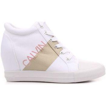 Scarpe Donna Sneakers basse Calvin Klein Jeans RE9806 Sneaker  Donna Bianco/oro Bianco/oro