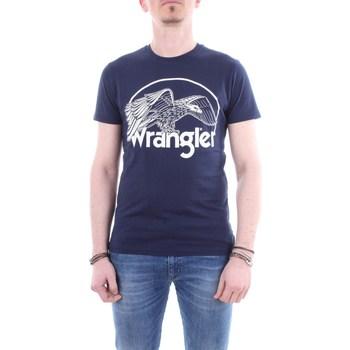 Abbigliamento Uomo T-shirt maniche corte Wrangler w7c12fk Blu