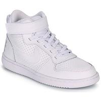 Scarpe Unisex bambino Sneakers alte Nike COURT BOROUGH MID PRE-SCHOOL Bianco