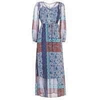 Abbigliamento Donna Abiti lunghi Cream SAMA Blu / Marrone