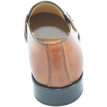 Scarpe Uomo Mocassini Malu Shoes Scarpe uomo con fibbia doppia cuoio sottile derby vintage in ve CUOIO