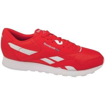 Scarpe Uomo Sneakers basse Reebok Sport CL Nylon Color Bianco, Rosso