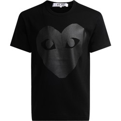 Abbigliamento Uomo T-shirt maniche corte Comme Des Garcons T-shirt girocollo di colore nero, con stampa cuore Nero