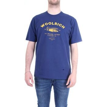 Abbigliamento Uomo T-shirt maniche corte Woolrich WOTEE1158 Blu