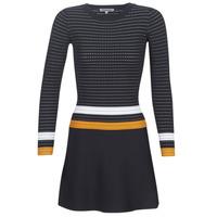 Abbigliamento Donna Abiti corti Morgan ROXFA Marine / Bianco / Giallo