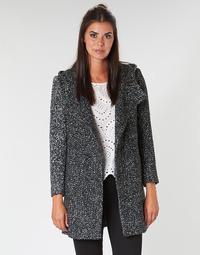 Abbigliamento Donna Cappotti Casual Attitude LOUA Grigio / Nero