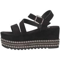 Scarpe Donna Sandali Exé Shoes MACAU-736 BLACK Nero