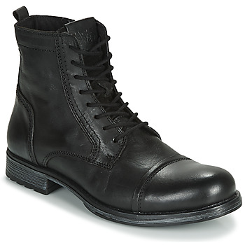 Scarpe Uomo Stivaletti Jack & Jones JFW RUSSEL LEATHER Nero
